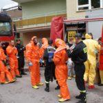 Cysterna z trującą substancją uderzyła w busa na obwodnicy Mrągowa, ale spokojnie to tylko ćwiczen